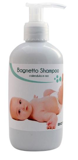 Bagno shampoo Bio per neonati alla calendula e riso – BIOTEKNO