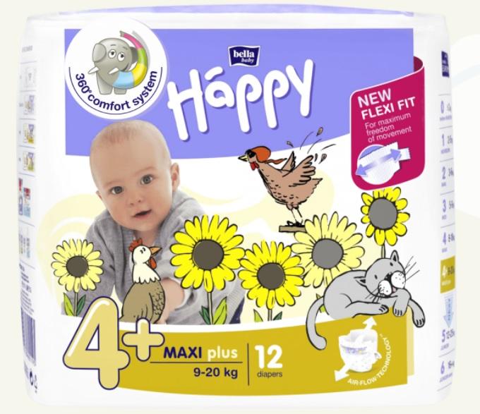 Pannolini ecologici Happy Maxi Plus taglia 4+ 9/20 kg – Bella Baby