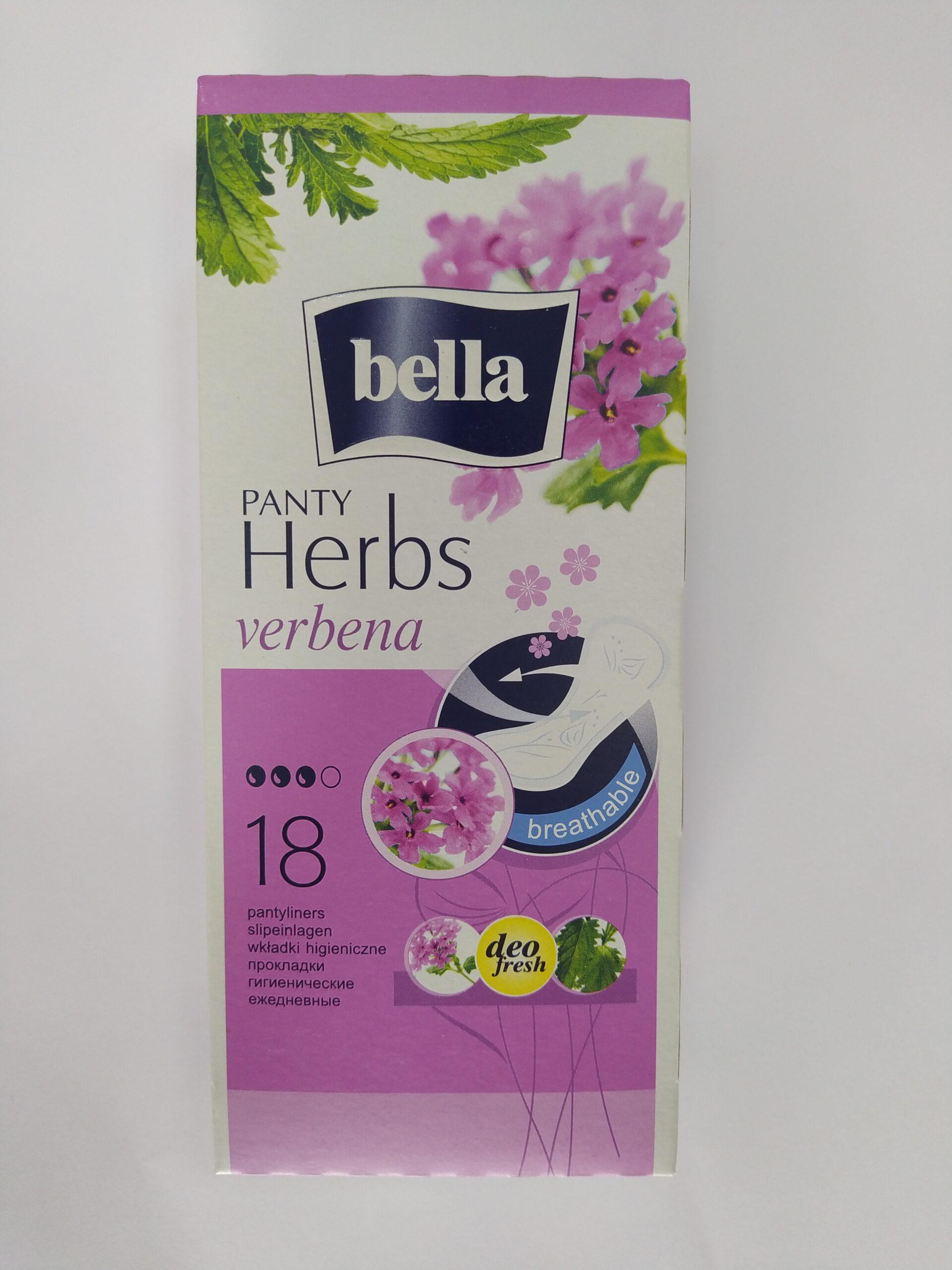 Salvaslip Ultrasottili con estratti di Verbena 18 pz – BELLA PANTY HERBS
